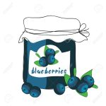 12854874-blueberry-jam-stock-vector-jar